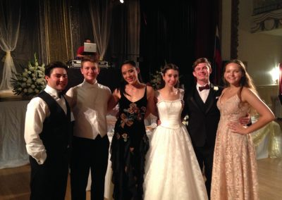 Russian White Ball students and Dian.